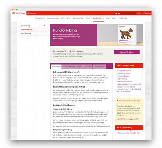 ICA Försäkring hemsida
